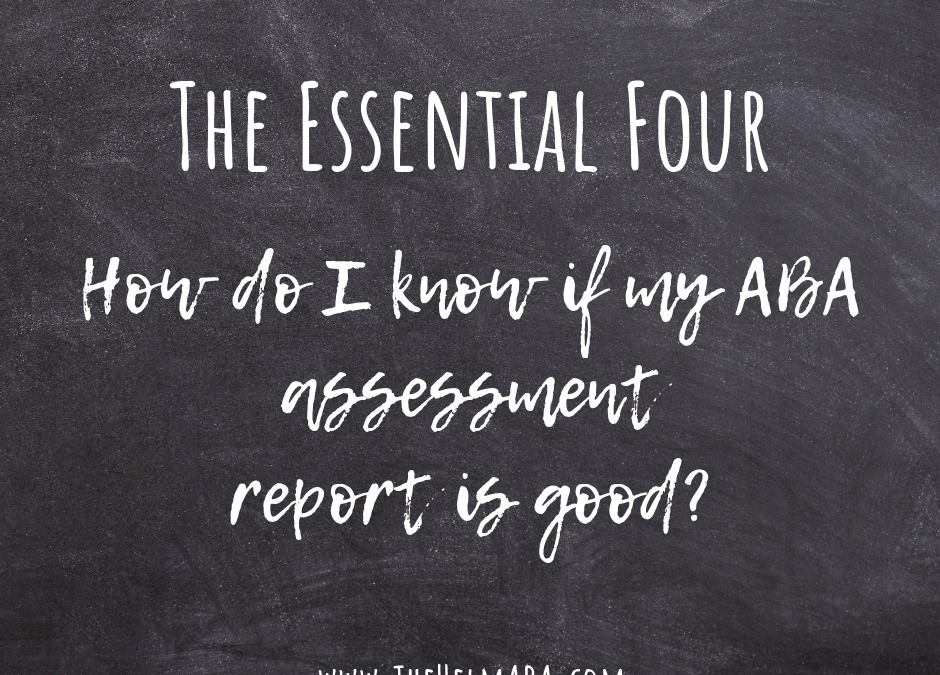 How Do I Know If My ABA Report Is Good?